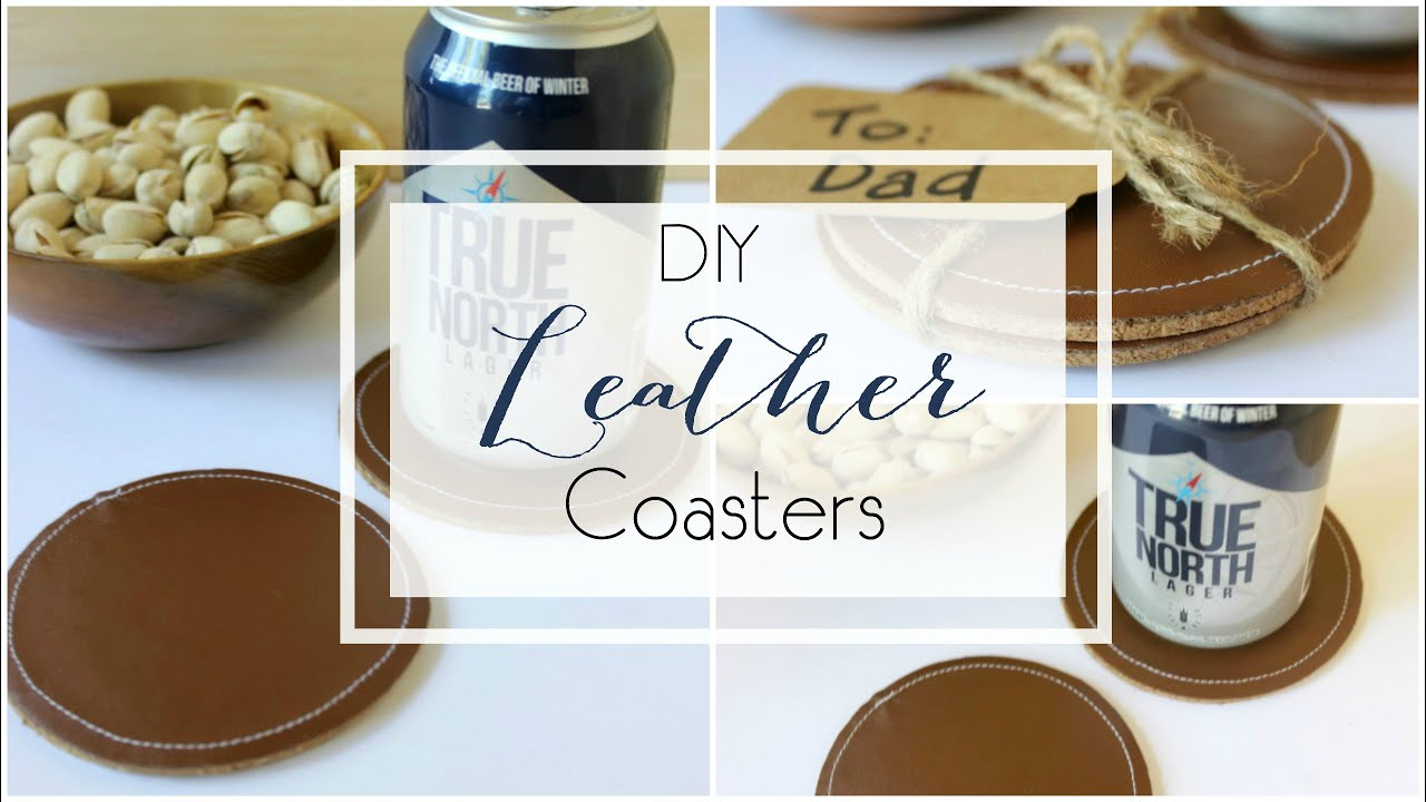 Diy leather coasters youtube for Drink coaster ideas