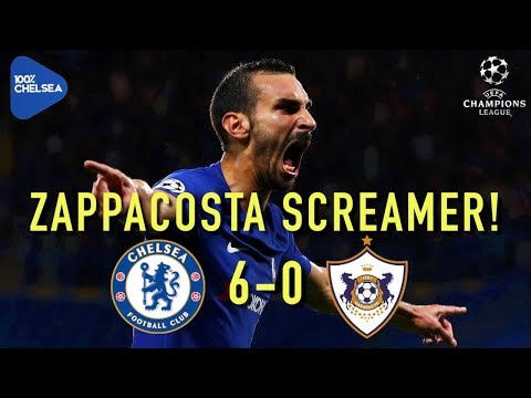 CHELSEA 6-0 QARABAG || ZAPPACOSTA SCREAMER!! || CHAMPIONS LEAGUE!
