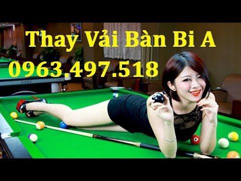 Thay vải bàn bi a, dịch vụ thay vải bàn bi a – Billiards Trịnh Uyển