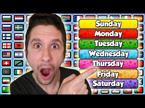 Pronouncing The Days Of The Week In All Languages In The World
