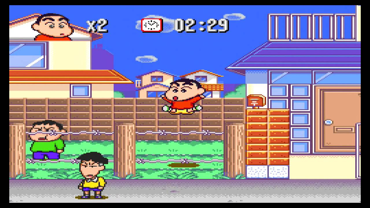Crayon Shin-chan (Super Famicom) Gameplay on a Retron 5 in Upscaled 720p -  YouTube
