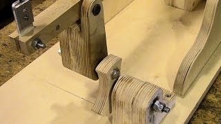 Drill Powered Wooden Scroll Saw Assembly, Part 3 The Drive Train