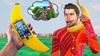 केले का फोन और किसान Farmer Banana Phone Comedy Video हिंदी कहानिय Hindi Kahaniya Funny Comedy Video