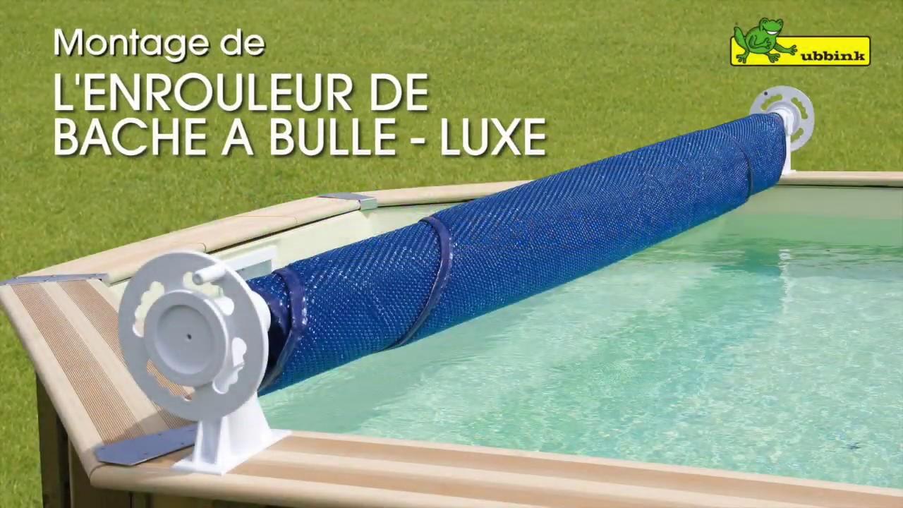 Voir Piscine Hors Sol montage de l'enrouleur luxe pour piscine hors sol