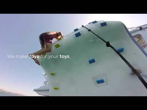 Climbing wall rental   Impressive Somersault From the Top of a Climbing Wall