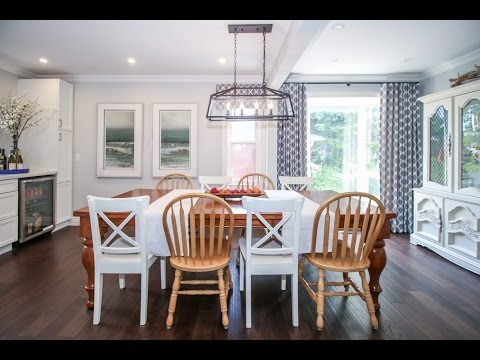 A before and after kitchen and dining renovation that really makes a splash