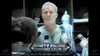 super bowl 2010 commercial with brett favre   new hyundai