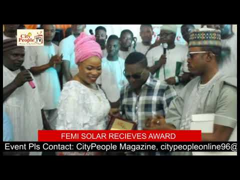 FEMI SOLAR RECIEVES AWARD FOR RECOGNITION AT CITY PEOPLE