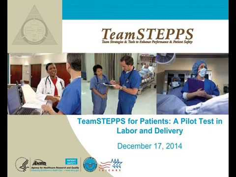 TeamSTEPPS for Patients: A Pilot Test in Labor and Delivery