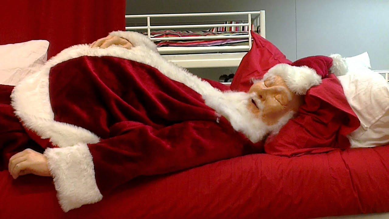 Sleeping Santa At Ikea Youtube