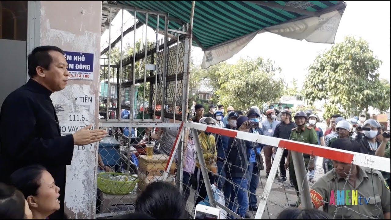 Luật đất đai là mọi rợ – Lm. Giuse Nguyễn Duy Tân chia sẻ nỗi đau với dân Vườn Rau Lộc Hưng