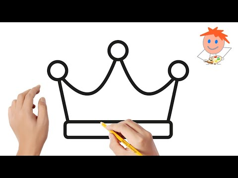 How To Draw A Crown Easy Step By Step #3 | Drawing For Kids ❤️