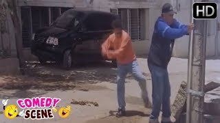 Tennis Krishna Hitting Bank Janardhan - Kannada Comedy Scene | Laati Charge Movie