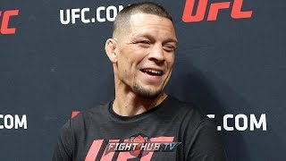 """NATE DIAZ ASKED IF HE WILL FIGHT CONOR MCGREGOR IN TRILOGY FIGHT """"WE'LL SEE WHAT HAPPENS"""""""