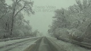 NW Chicago, IL Suburbs Snow Storm 11/21/2015