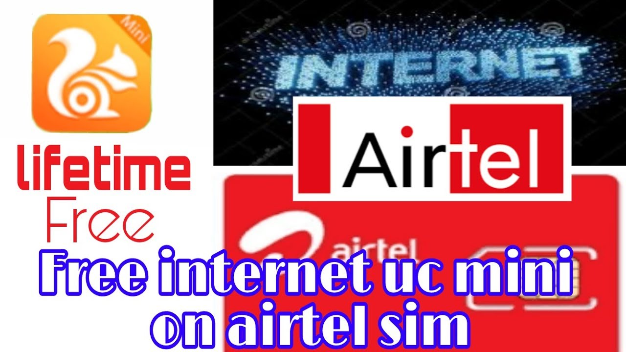 Life Time UnLimited FREE INTERNET UC MINI Airtel sim normal trick