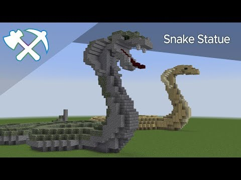 How To Build A Snake Statue | Minecraft Tutorial