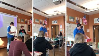 Students Give Present To Widowed Teacher