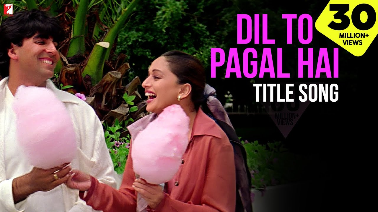 Download Dil To Pagal Hai Title Song | Shah Rukh Khan | Madhuri Dixit | Karisma Kapoor | Akshay | Lata | Udit
