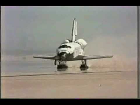 STS-1 - Space Shuttle Columbia first Launch + first Landing