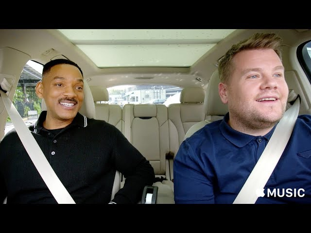 Will Smith y James Corden en el nuevo Carpool Karaoke: The Series