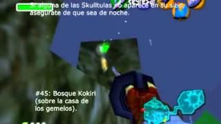 The Legend of Zelda (Ocarina of Time): All 100 Gold Skulltulas (todas las Skulltulas Doradas).