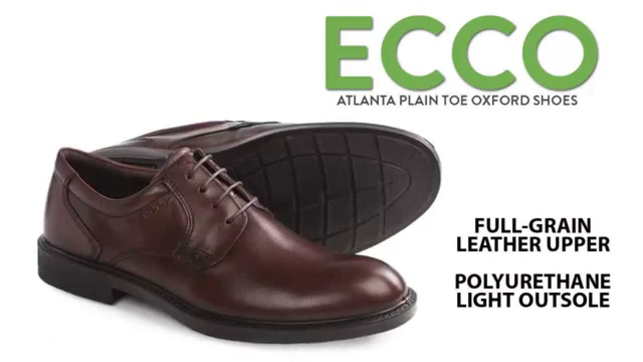 ECCO Atlanta Plain Toe Oxford Shoes (For Men) - YouTube 12e705759d8e
