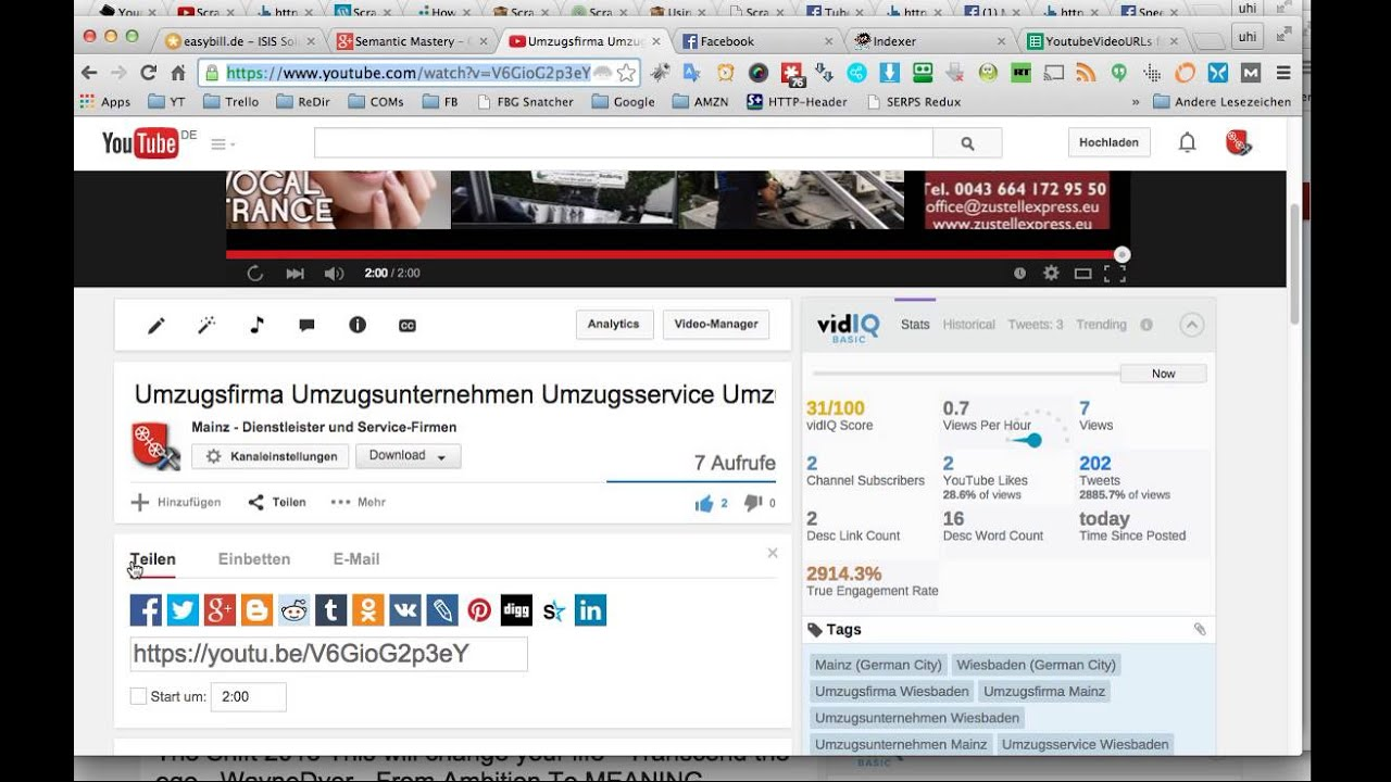 Youtube Video SEO - Creating Video URL Variables For Pinging Using Google  Spreadsheets