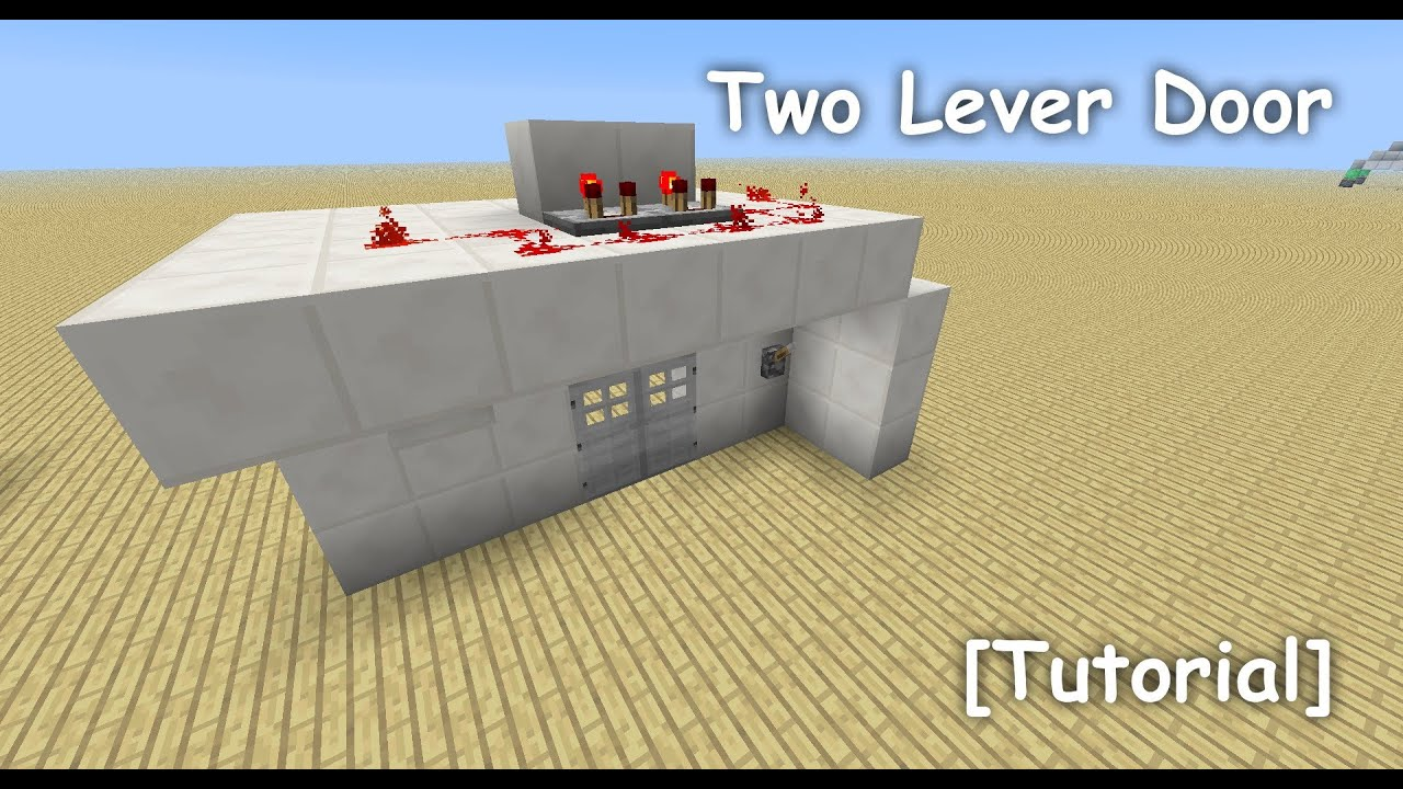 Two Lever Door Tutorial Minecraft 15 Youtube Xnor Logic Gates Basic Redstone Circuits Game Guide