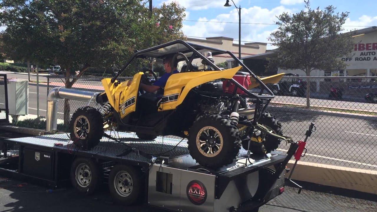 Alba Racing making a 1st-5th gear pull Yamaha YXZ1000R Axis Dyno