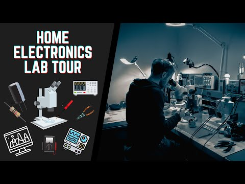 Tour Of My Home Electronics Lab/maker Space 🛠