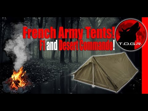 You Will Want to See This Tent! - French Army Desert Commando Tent