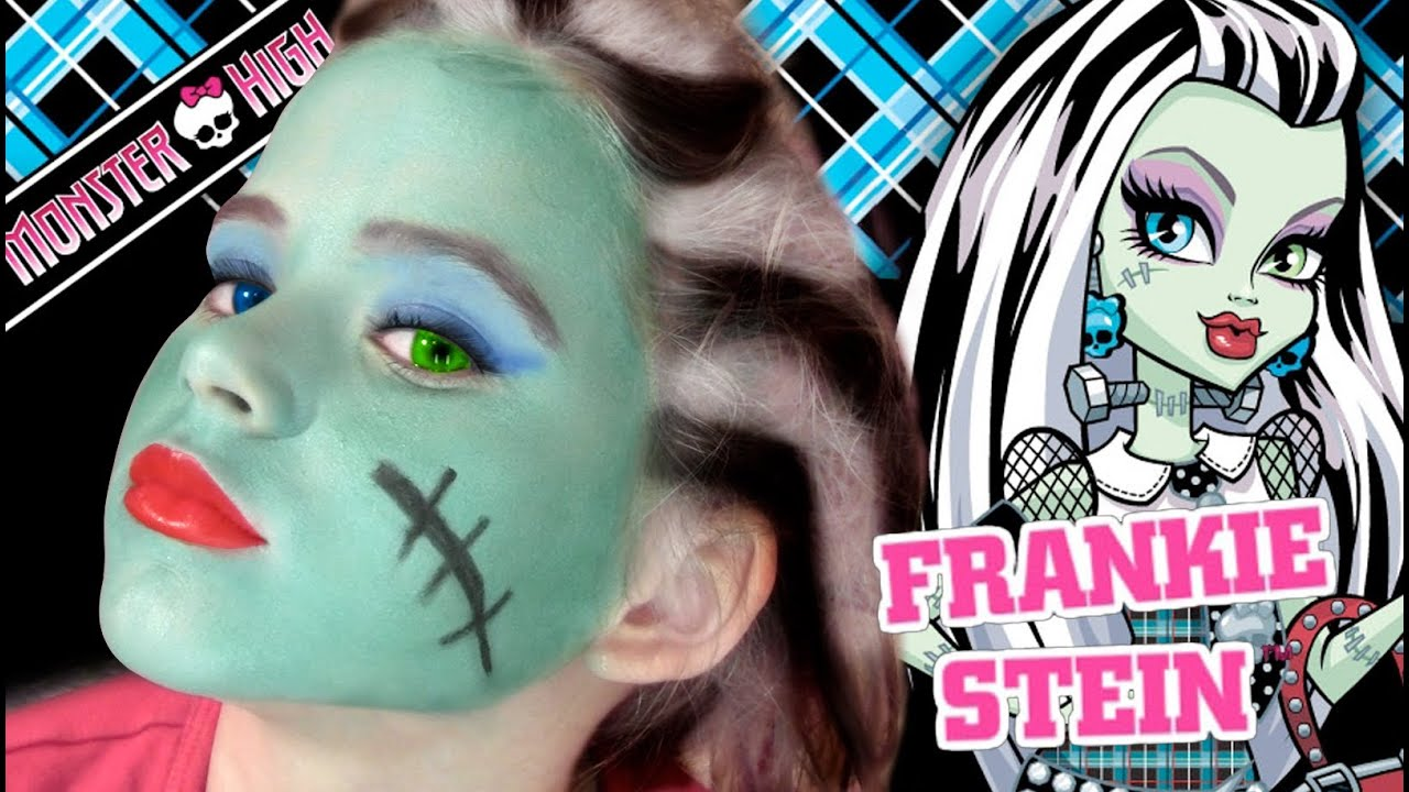 Uncategorized Monster High Paint Colors frankie stein monster high doll costume makeup tutorial for halloween youtube
