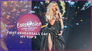 Eurovision 2019 - First Rehearsals [DAY 1] - My Top 9 [Semi Final 1]