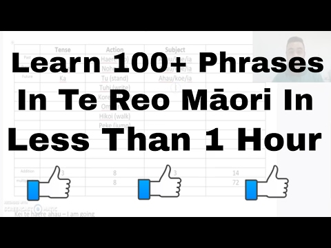 Learn to say 100+ sentences in te reo Māori