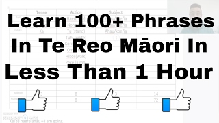 Learn to say 100+ sentences in te reo Māori