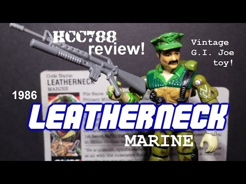 HCC788 - 1986 LEATHERNECK - Marine - Vintage G.I. Joe toy review!