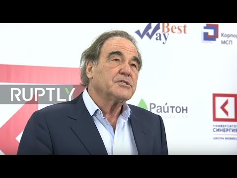 LIVE: Oliver Stone holds a press conference at the Synergy Global Forum