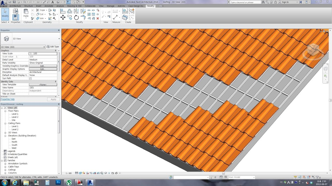Revit Tips Spanish Roof Tile With Download Link Youtube