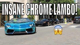PUBLIC REACTIONS TO CHROME LAMBORGHINI! *VALET HATES IT*