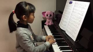 Vera playing piano #10 - Home on the Range