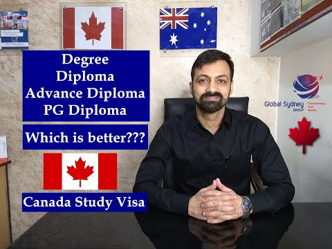 Which is better - Diploma, Advance Diploma, PG Diploma, or Degree in Canada? Requirements?