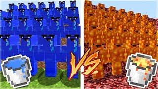 LAV ORDUSU VS SU ORDUSU! - Minecraft ATEŞ ve SU!