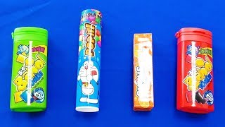 Finger Family Colors Song - Learn colors with Big Babol, Popit and Sugus Candies for Kids