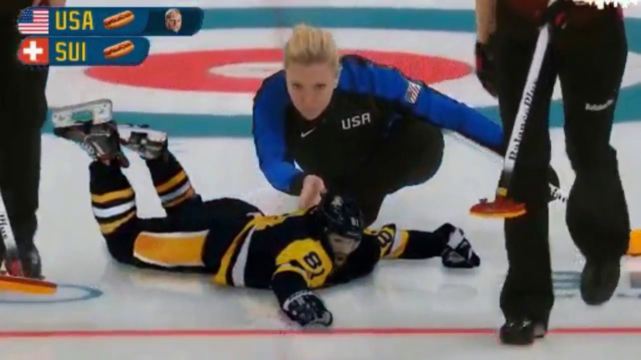 Womens Curling with Phil Kessel as the rocks - Hurry Hard Sweep ...