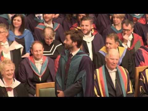 David Tennant Doctor Honory of Drama