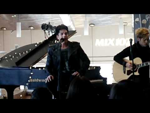 Adam Lambert Washington D.C. Gibson Guitar showroom- Whataya Want From Me- 3/12/12♥