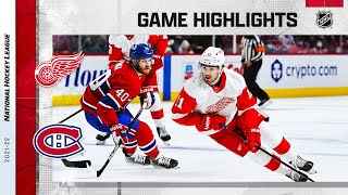 Red Wings @ Canadiens 10/23/21 | NHL Highlights