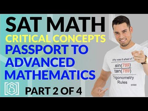 SAT Math: Critical Concepts for an 800 - Passport to Advanced Mathematics (Part 2 of 4)