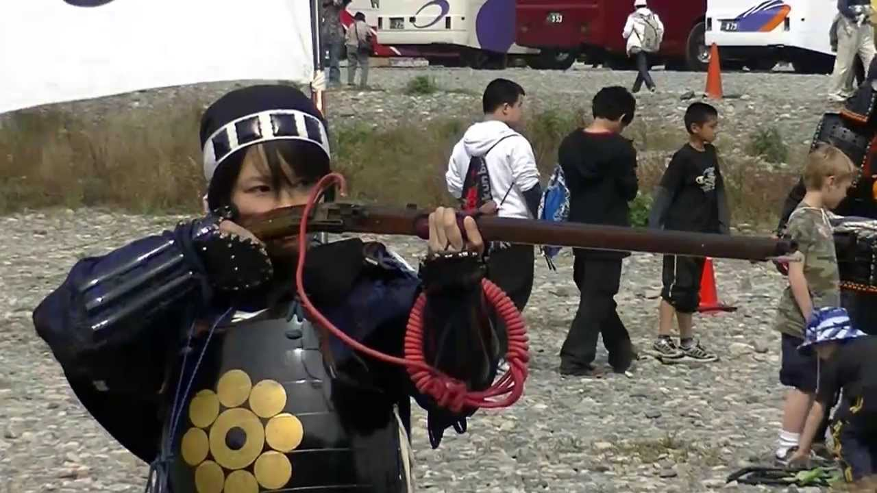 Demonstration of Japanese traditional matchlock by Samurai